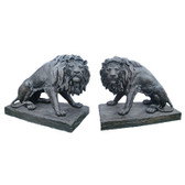 Big Lions Statue Bronze Finish