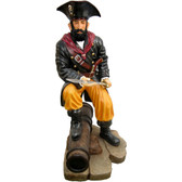 Pirate With Cannon Life Size Statue