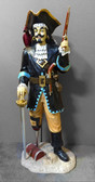 Pirate Captain Peg Leg Statue Life Size