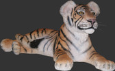 Tiger Cub Lying Down Life Size Statue