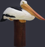 Life Size Pelican on Post Replica Statue