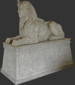 Egyptian Sphinx Statue on Base Roman Stone