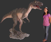 Allosaurus Raptor Statue Mouth Open Life Size
