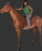 Brown Horse Life Size Statue