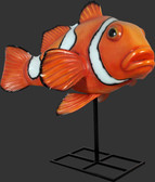 Giant Clownfish on Stand Statue
