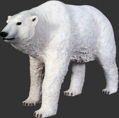 Polar Bear Walking Life Size Statue