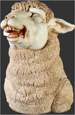 Whimsical Funny Sheep Statue Laughing