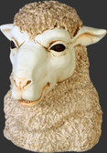 Funny Sheep Head Statue