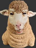Smiling Sheep Head Statue