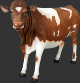 Life Size Guernsey Cow Statue