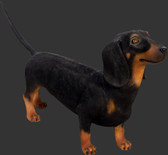 Dog Statue - Dachshund - Black