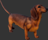 Dog Statue - Dachshund - Brown