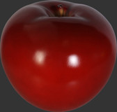 Medium Apple Sculpture - Red