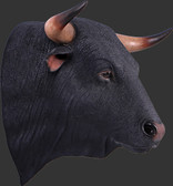 Spanish Bull Head Wall Decor Statue