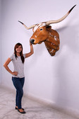 Texas Long Horn Bull Head Wall Mount