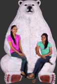 Polar Bear Sitting Jumbo Statue with Paw Seat