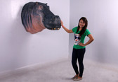 Hippo Head Wall Mount Life Size Statue