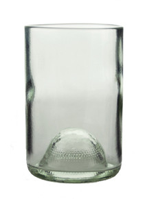 Clear Tumblers With Wine Punt Made From Recycled Wine Bottles - set of 4
