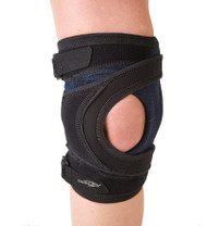 DonJoy Tru-Pull Lite Patella Stabilizer Brace is designed to realigning the patella and reduce  pain due to patellofemoral dysfunction
