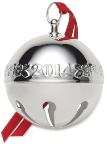 Wallace Annual Silver Plate Sleigh Bell Ornament 2014