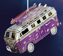 ChemArt Van with Surfboards Ornament