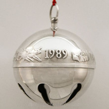 Wallace Annual Sleigh Bell Ornament 1989