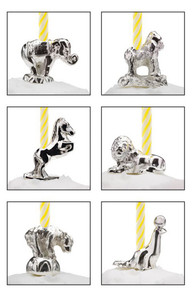 Reed & Barton Circus Animal Candle 6pc Set