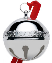 Wallace Annual Sleigh Bell Ornament 2015 - Silver Plate