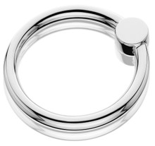 Thurber Sterling Circle Rattle and Teething Ring