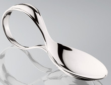 Thurber Sterling Bent Handle Baby Spoon