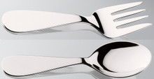 Thurber Sterling Baby Fork and Spoon Set