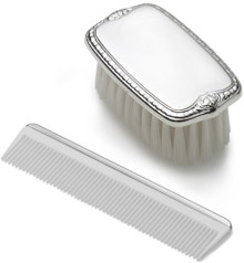 Empire Boys Plain Military Brush and Comb Set