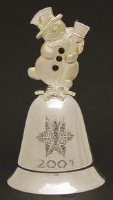 Kirk Stieff Annual Musical Bell Ornament 2001