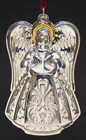 Towle Annual Angel with Gold Accent Ornament 2001