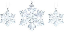 Swarovski Annual Snowflake Set of 3 Ornaments 2016