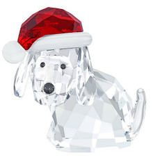 Swarovski Dog with Santa's Hat Ornament