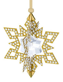 Swarovski Gold Tone Star Ornament