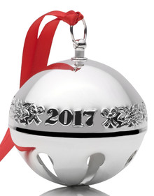 Wallace Annual Sleigh Bell Ornament 2017 - Silver Plate