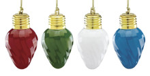Lenox Crystal Mini Vintage Light Bulb Set of 4 Ornaments