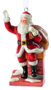 Royal Doulton Santa Claus on a Chimney Ornament