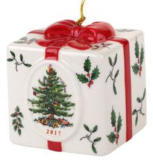 Spode Christmas Tree Annual Holiday Gift Box Ornament 2017 - Box damaged
