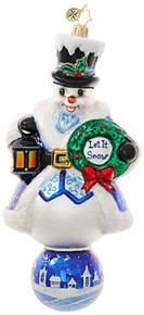 Christopher Radko Limited Edition Let It Snow Snowman Ornament