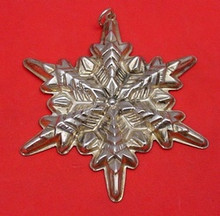 Gorham Annual Snowflake Ornament 1972