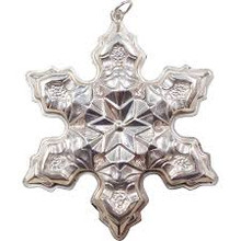 Gorham Annual Snowflake Ornament 1975