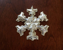 Gorham Annual Snowflake Ornament 1977