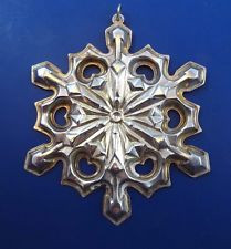 Gorham Annual Snowflake Ornament 1979