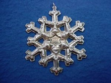 Gorham Annual Snowflake Ornament 1981