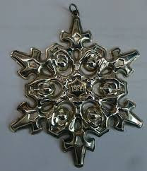 Gorham Annual Snowflake Ornament 1984
