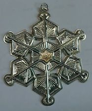 Gorham Annual Snowflake Ornament 1987
