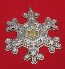 Gorham Annual Snowflake Ornament 1988